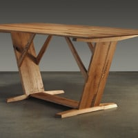 red oak rough sawn table1