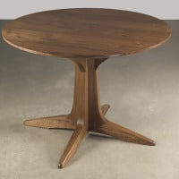 table round walnut 17
