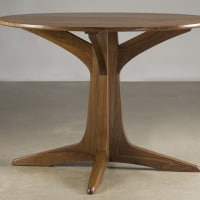 table round walnut 21