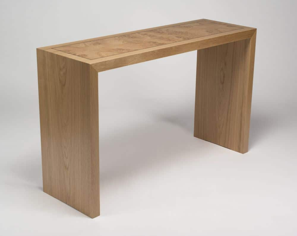 Davis console eben blaney fine contemporary furniture davis console white oak solid and veneer white oak burl veneer ebony laminated hardwood plywood 28h x 45w x 15d geotapseo Choice Image