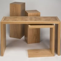 pedestals with tables