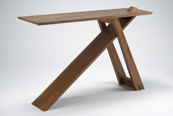 Wedge Console Table Maine Contemporary Furniture