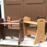 Walnut and Cherry Bodywork Benches